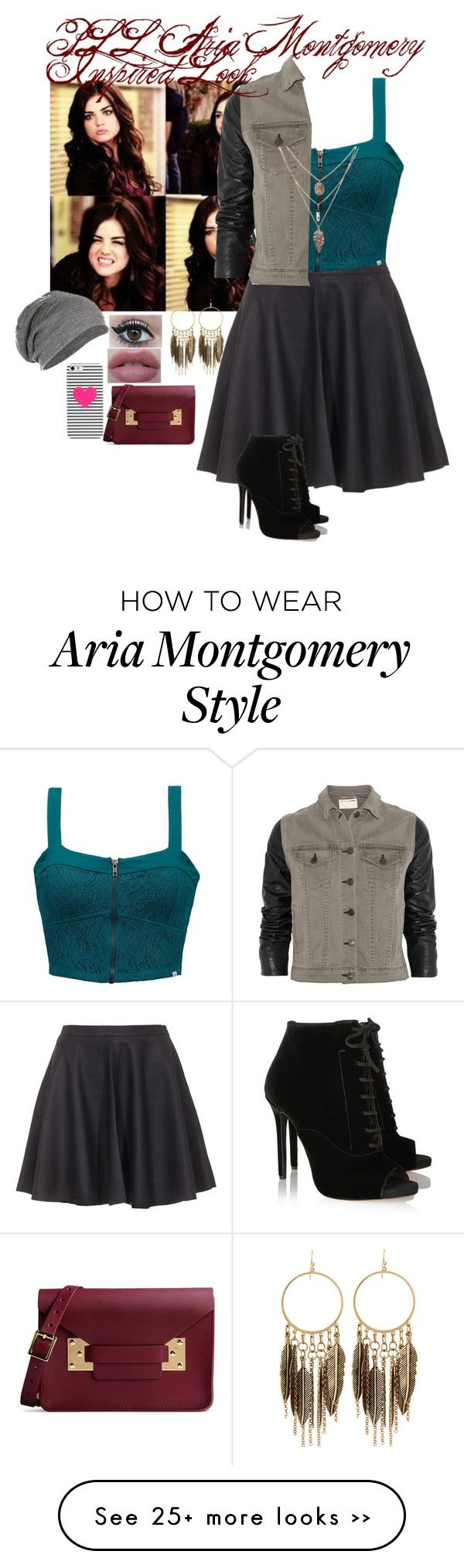 """PLL Aria Montgomery Inspired Look"" by pierangelisvalerio on Polyvore"