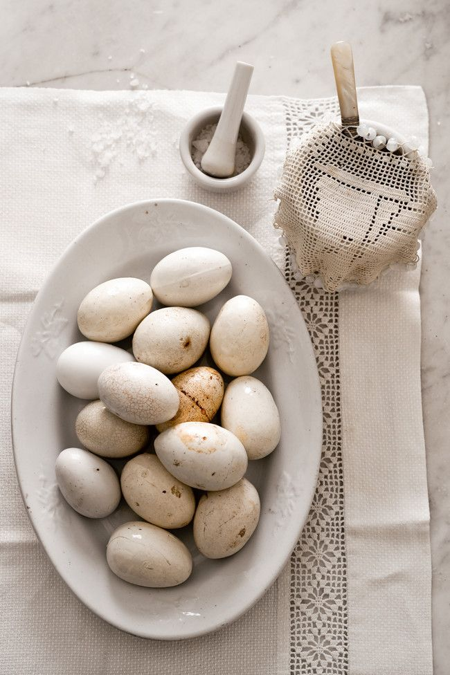 Wonderful white colors, farm eggs