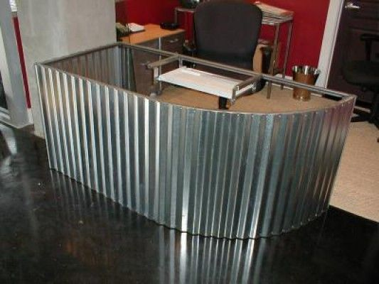 Custom Corrugated Metal Desk Corrugated Metal Metal