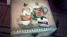Шкатулка коробка (короб) для чая