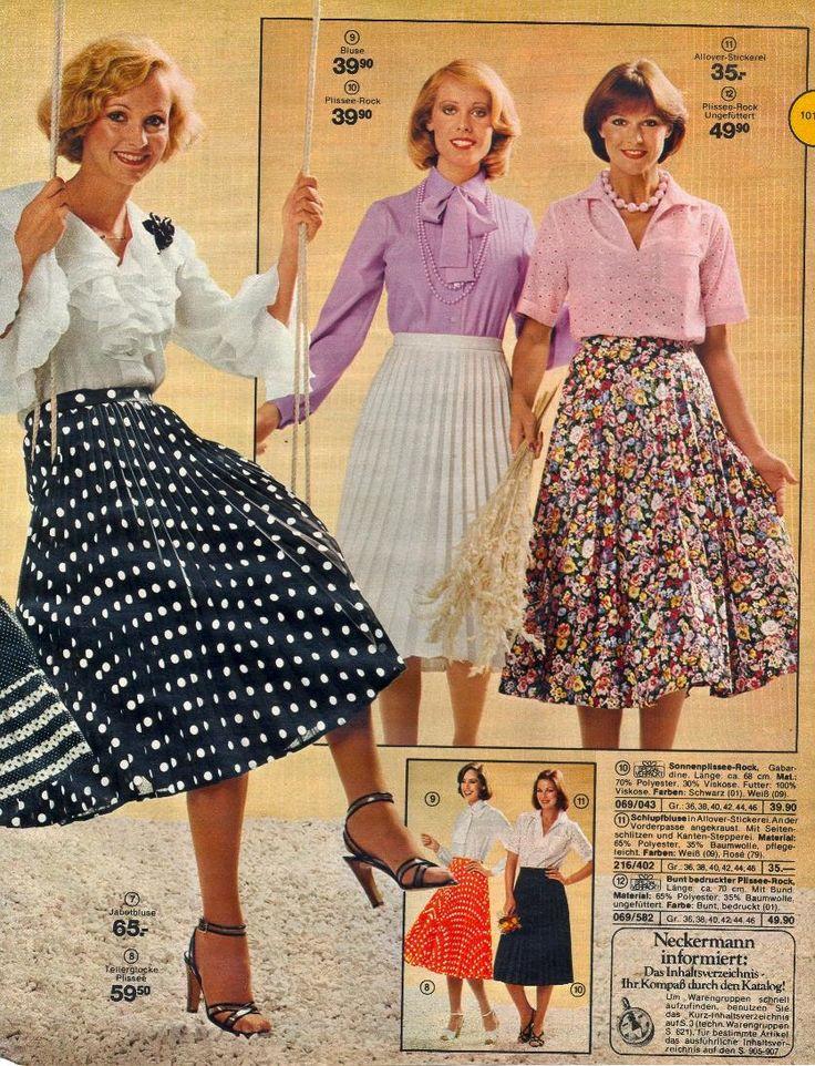 30 besten vintage bilder auf pinterest blusen mode der - 80er damenmode ...