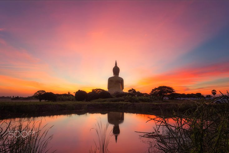Big Golden Buddha at Wat Muang in Ang Thong, Thailand.