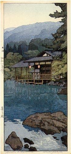 Garden in Summer  by Hiroshi Yoshida, 1933