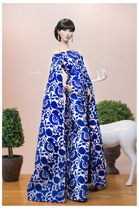 PORCELAINE Jumpsuit for 16'' Fashion Doll