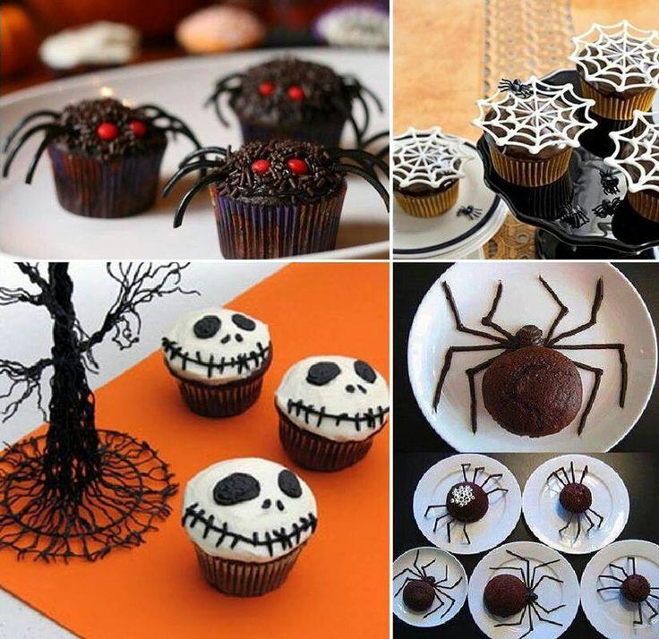 Spider design muffins
