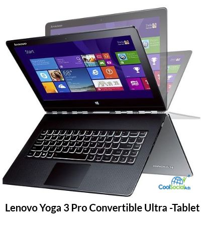 Lenovo Yoga 3 Pro Convertible Ultra -Tablet for more details visit http://coolsocialads.com/lenovo-yoga-3-pro-convertible-ultra--tablet-77683