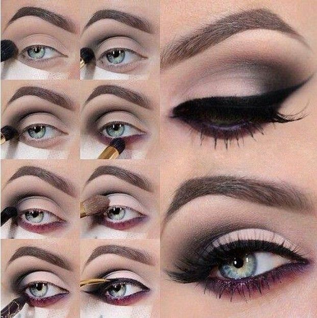 maquillaje de ojos ahumados paso a paso para noche