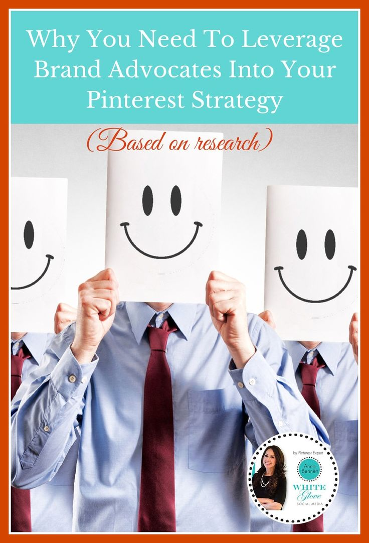 Pinterest Marketing Expert Anna Bennett shares ideas on how to leverage your key influencers and brand advocates and how to find them on Pinterest. CLICK HERE http://www.whiteglovesocialmedia.com/pinterest-expert-need-leverage-brand-advocates-pinterest-strategy-based-research/