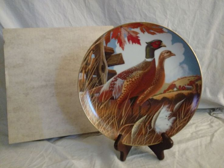 World of Game Birds Fairmont Collectible Plate Larry Toschik Ring-Necked Pheasan