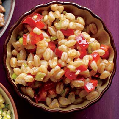 Farro-and-Red Pepper Salad with Sesame and Ginger | Recipe