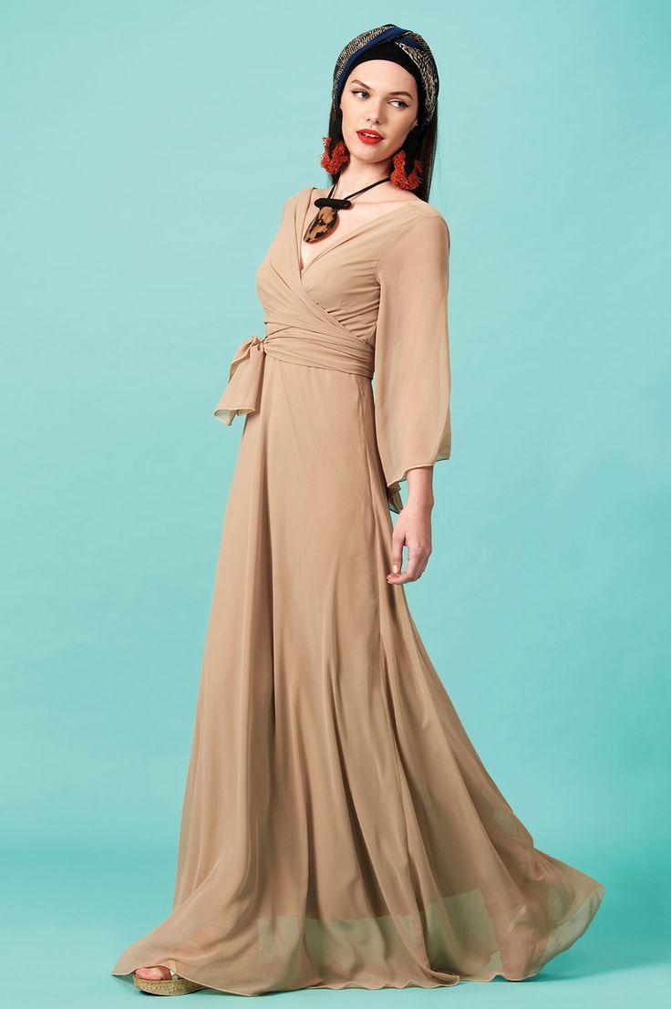 Forever Young : Φόρεμα μουσελίνα μακρύ (FY515)