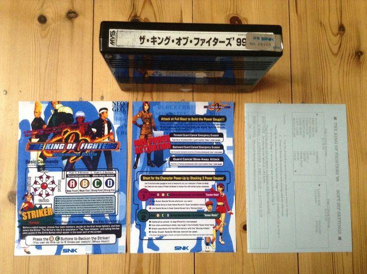 King Of Fighters 99 Neo Geo Mvs Original Japan Cart And Kit Uk Post #kof99 #neogeo #videogames #uk