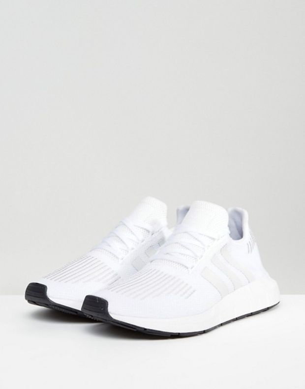 Adidas Originals Swift Run Trainers In White Cg4112 At Asos Com Adidas Shoes Women Stylish Sneakers Adidas White Sneakers