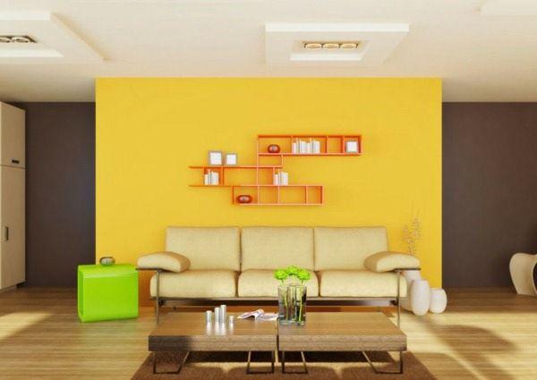 Foto Cat Dinding Ruang Tamu Warna Kuning Kombinasi 2