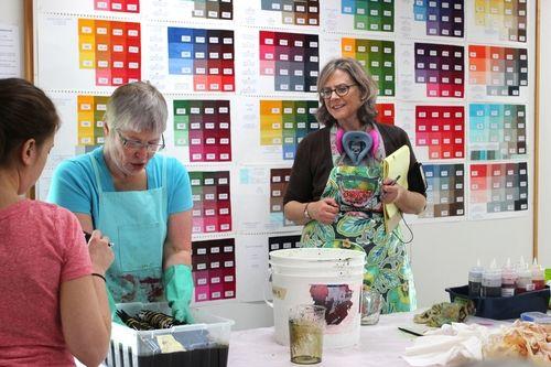 Leslie Morgan teaching Dye Colour Studies