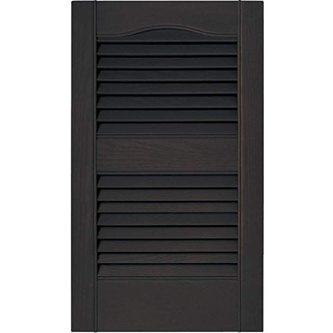 Mid America 15 In Vinyl Louvered Shutters Musket Brown Set Of 2 14 5 W X 1 D 31 75 H 3 74 Lbs Review