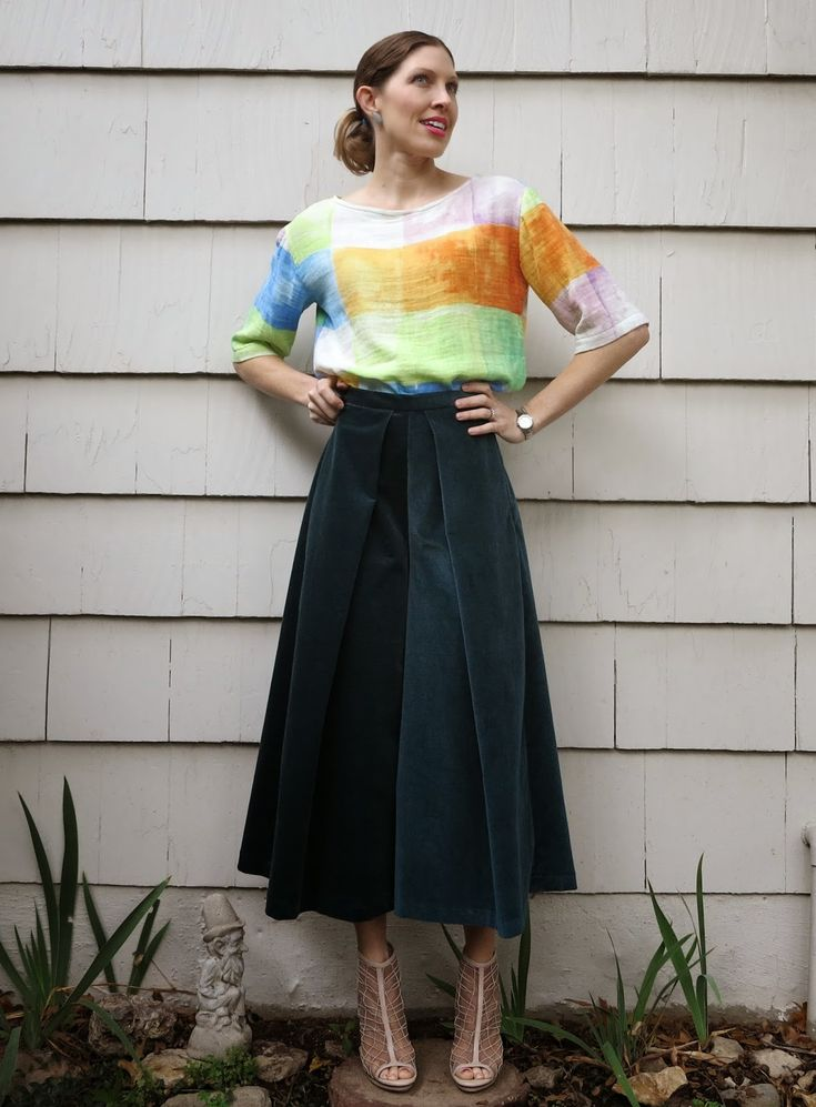 Corduroy culottes: another Esther shorts hack | via lilysageandco