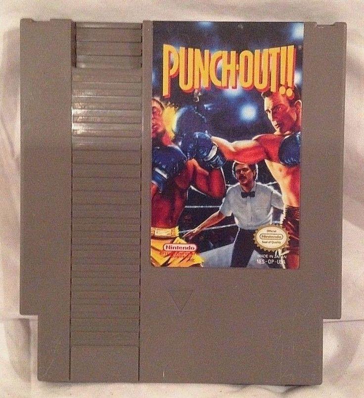 Punch Out Nintendo Entertainment System NES Cartridge 1990 Japan