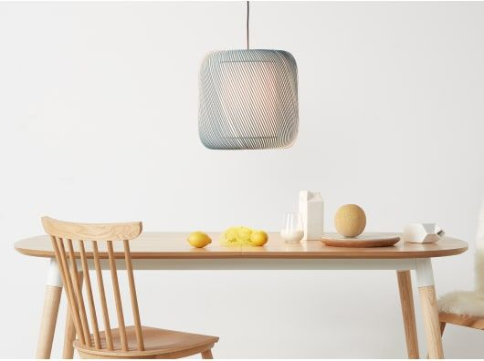 penny abat jour pour suspension bleu canard lumi re in. Black Bedroom Furniture Sets. Home Design Ideas