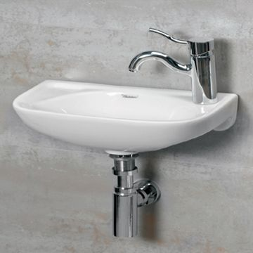 16 Isabella Small Wall Mount Basin With Center Drain Whitehaus Collection Products