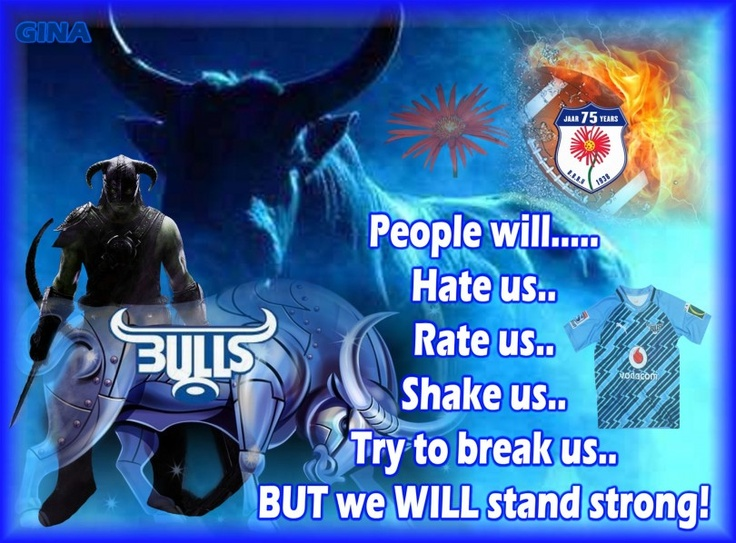 "Great entry from Peet Gouws :)  ""We will stand strong!""- Blue Bulls ""Biggest Little Fan"" Photo Contest http://www.facebook.com/TheCharacterGroupSA"