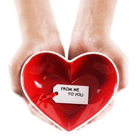 Hjerteformet skål for søte saker!