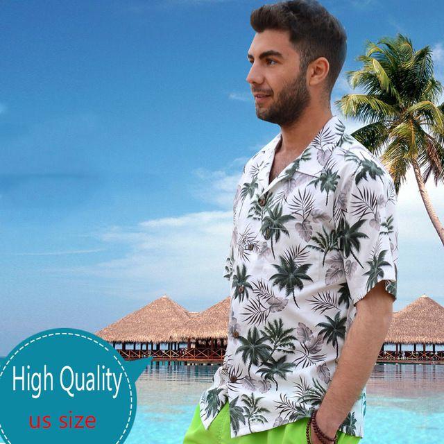 Nieuwe stijl paar gedrukt katoen korte mouw strand shirt mannen/vrouwen seaside vakantie shirt hawaiian merk top casual heren shirts