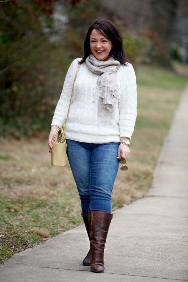 A review of the POPSUGAR Must Have Box for December 2014 along with an outfit post featuring Lands' End, Dagne Dover, DUO Boots, and Spun by Sparkle Luxury.