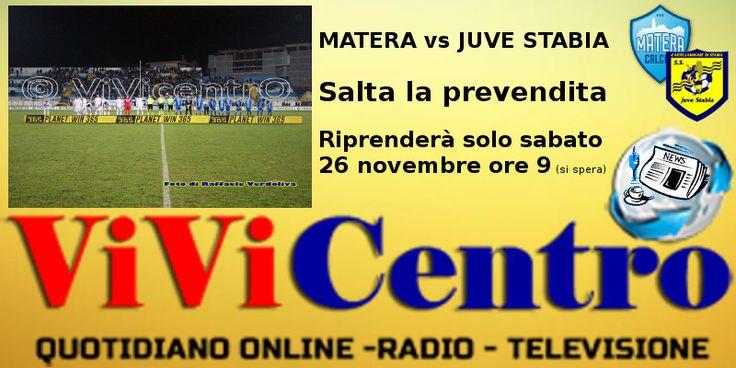 """Matera vs Juve Stabia: ora sorgono """"difficoltà"""" anche per i biglietti"""