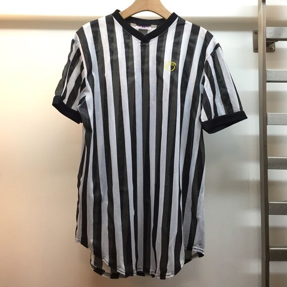 SALE Referee shirt / Halloween ref costume Striped ref shirt.  In perfect condition.  **Not Nike, just for exposure.   PRICE FIRM UNLESS BUNDLED  Nike Tops