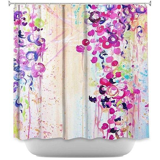 Shower Curtain   DiaNoche Designs   Dance Of The Sakura