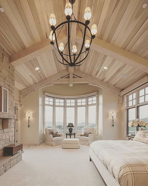 20 Gorgeous Luxury Bedroom Ideas: Best 25+ Vaulted Ceiling Decor Ideas On Pinterest