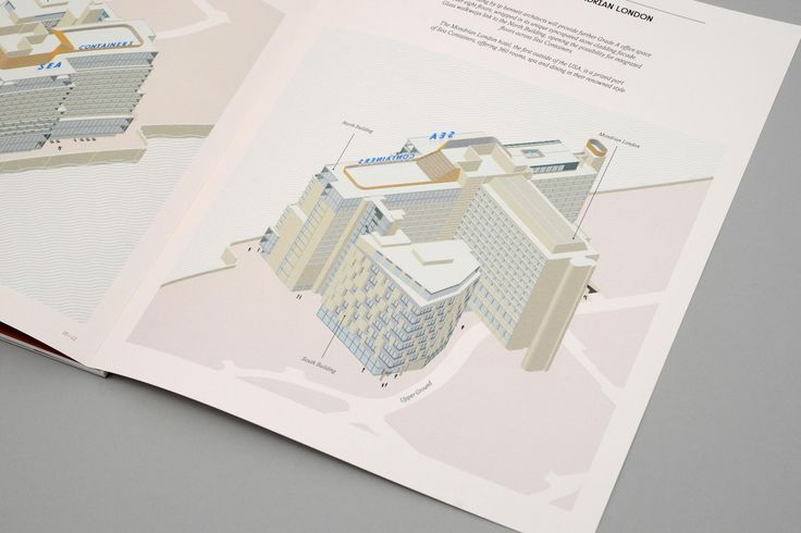Sea Containers. Rebranding a London landmark. Brochure 3D plans - dn&co.