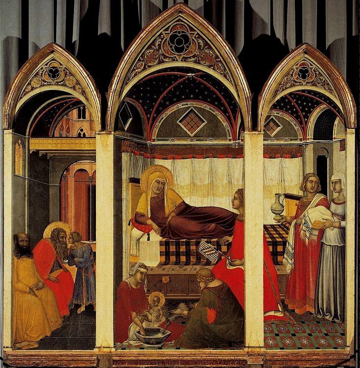 Pietro Lorenzetti - Natività della Vergine (ca. 1335-1342) - Siena, Museo dell'Opera del Duomo - #Siena #Toscana #PietroLorenzetti #MuseoDellOperaDelDuomo