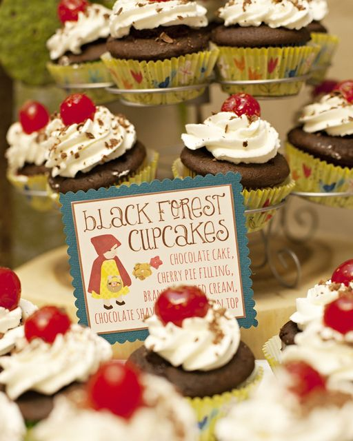Yummy cupcakes at a Woodland Party.  See more party ideas at CatchMyParty.com.  #woodlandpartyideas