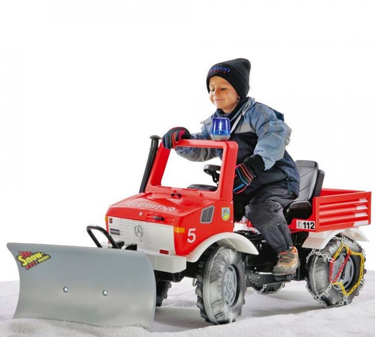 Pedal Powered Snow Plow Fire Brigade Truck