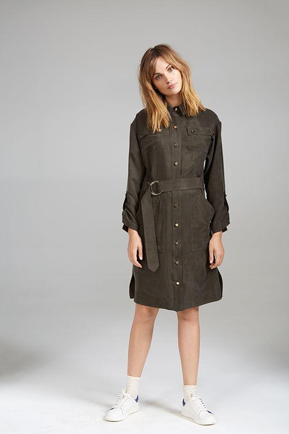 SILKY SHIRT DRESS