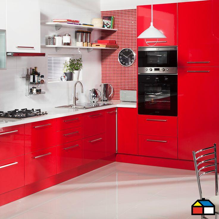 Color y energ a a tu ambiente cocina sodimac rojo for Muebles de cocina vibbo