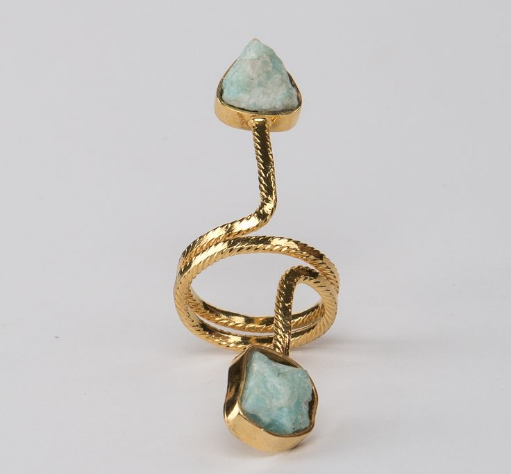 Vergara Collection - Amazonite Spiral Ring - DANIELA SALCEDO