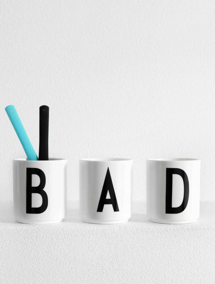 "Design Letters ""Bad Day"" Cups - Arne Jacobsen"