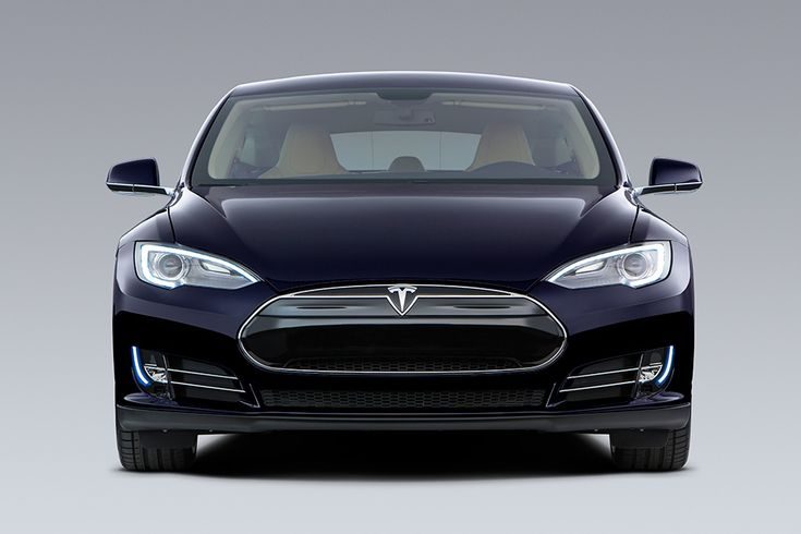 Tesla Model S in Blue, front