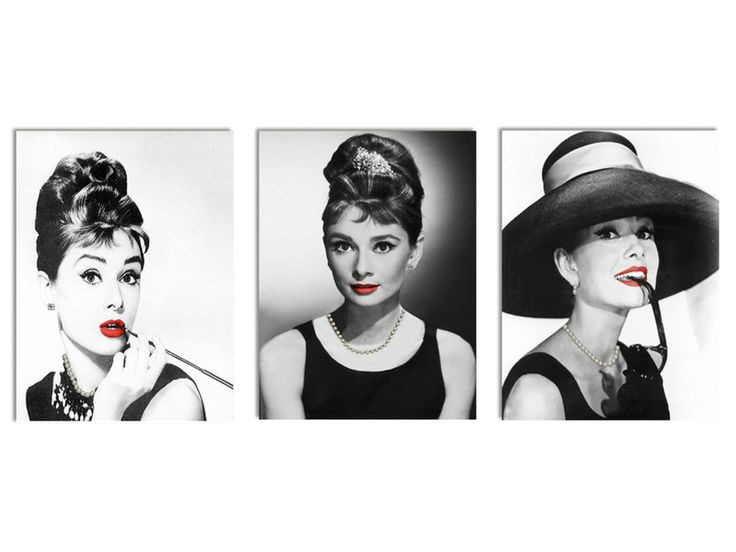 12 best cuadros images on pinterest frame black and white and 3 piece - Cuadro audrey hepburn ...