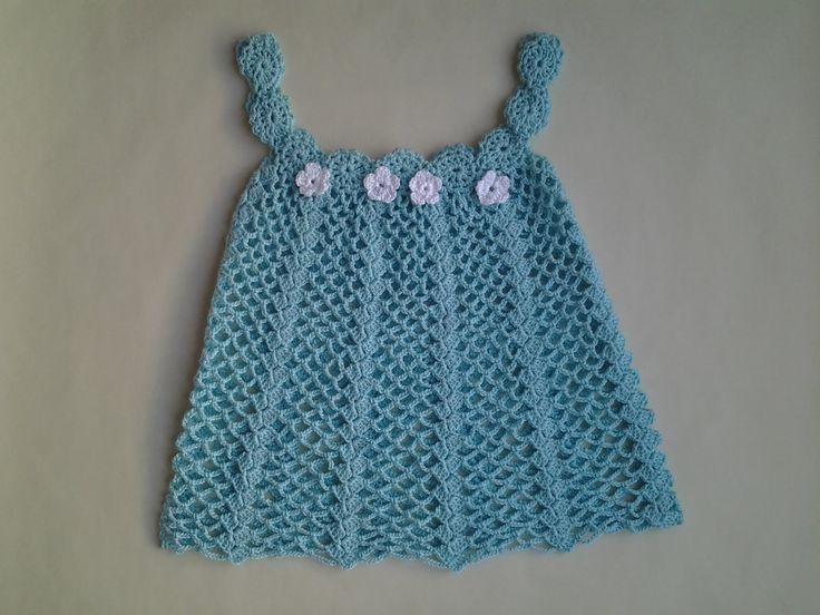 Vestido verano bebita a crochet 2ª parte #tutorial #diy