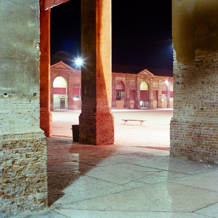 Olivo Barbieri, Lugo, Ravenna, 1982, from Viaggio in Italia, 1984. Inkjet Print on Archival Paper, 20 x 20 cm. © Olivo Barbieri