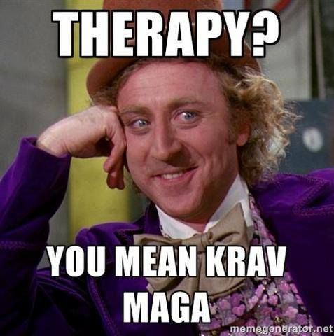 Krav maga is the best form of therapy!!!  Mada Krav Maga in Shelby Township, MI teaches realistic hand to hand combat that uses the quickest methods to attack the weakest and most vital targets of both armed and unarmed assailants! Visit our website www.madakravmaga.com or call (586) 745-1171 for more details!
