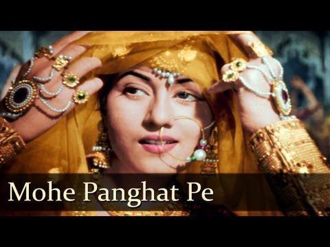Mohe Panghat Pe - Madhubala - Dilip Kumar - Mughal-E-Azam - Bollywood Cl...