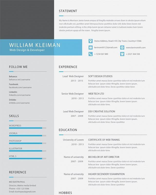 Resume Design 026 Price Rm9 60 Link Https Ift Tt 2rhco2n Resume Design Resume Resume Template Free