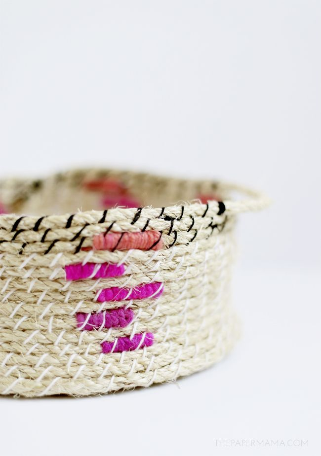 How To Weave A Basket With Rope : Diy ify easy woven rope basket and crafts