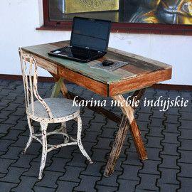 http://karinameble.pl/pl/p/biurko-LOFT-recykling-NAC-F13-108/3104 kolonialne biurko z drewna recyklingu