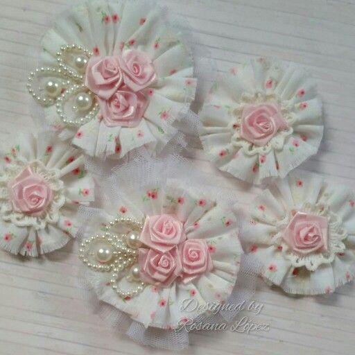 fabricacion de flores con tela